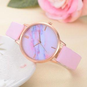 Accessories - NEW Pink Marble Quartz Watch